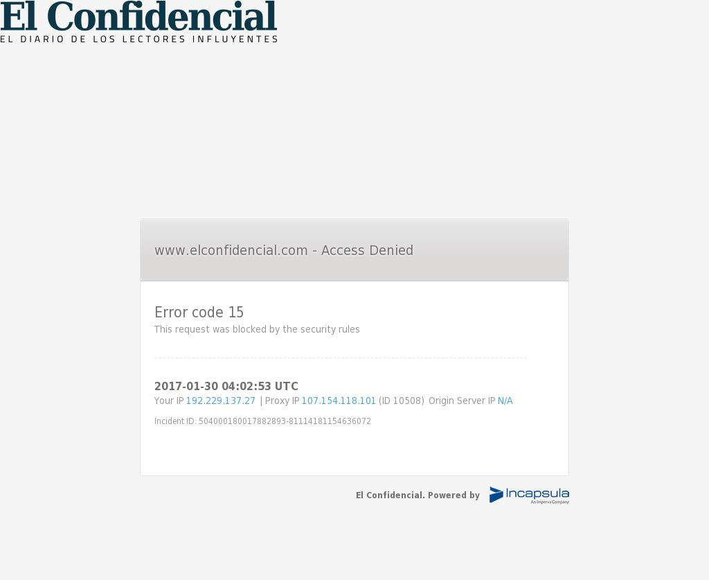 El Confidencial at Monday Jan. 30, 2017, 4:03 a.m. UTC
