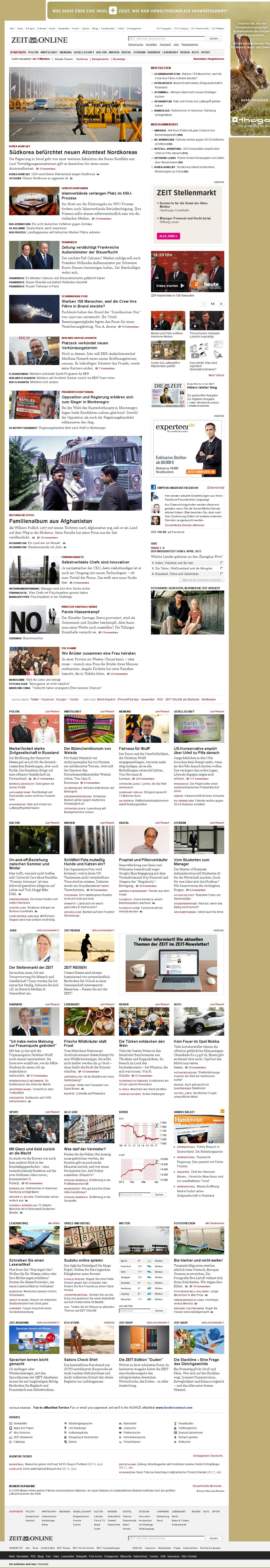 Zeit Online at Monday April 8, 2013, 6:25 a.m. UTC