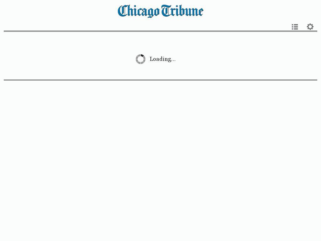 Chicago Tribune at Wednesday Feb. 3, 2016, 1:03 p.m. UTC