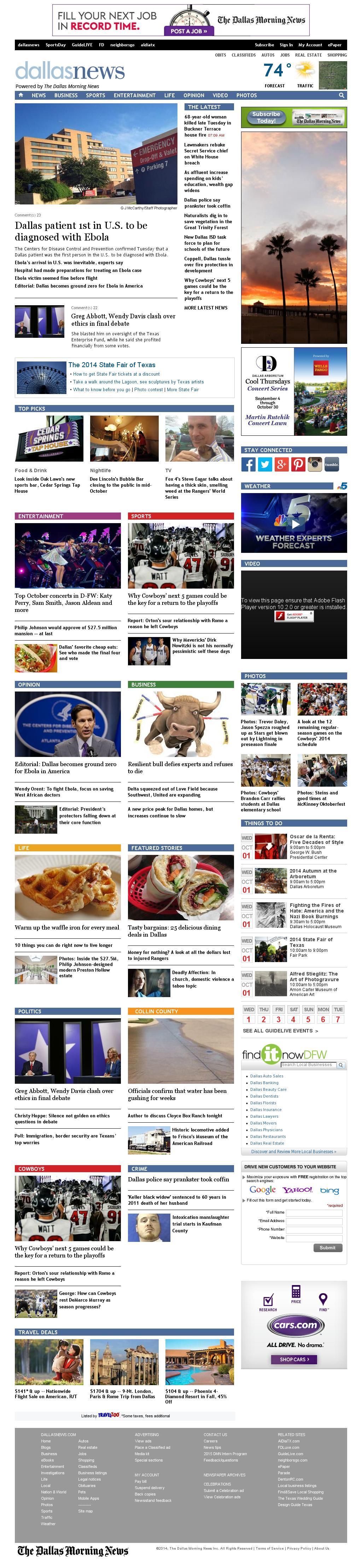 dallasnews.com at Wednesday Oct. 1, 2014, 1:03 p.m. UTC