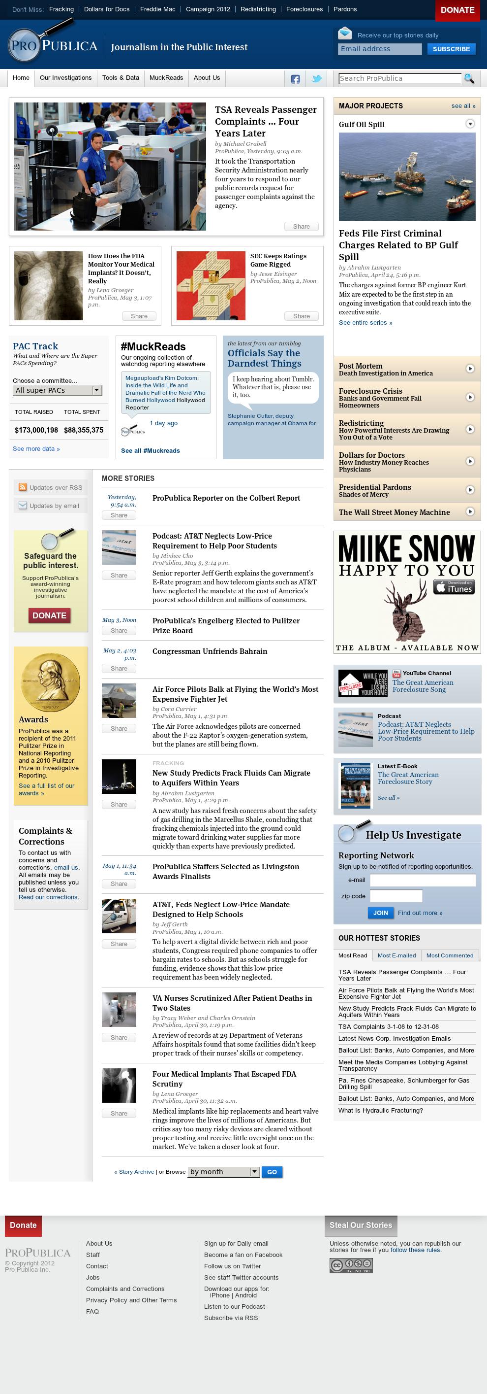 ProPublica at Saturday May 5, 2012, 11:09 a.m. UTC