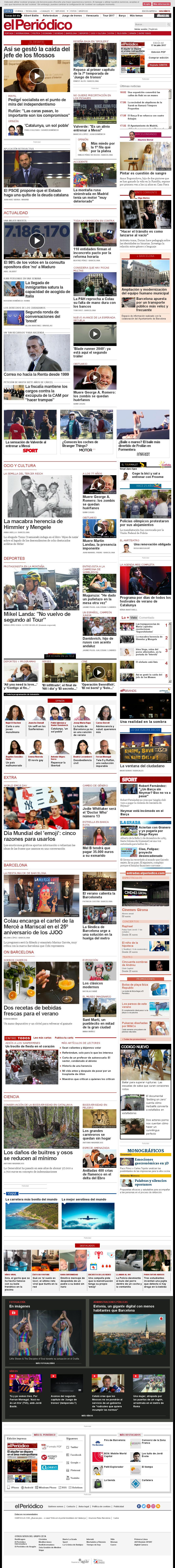 El Periodico at Monday July 17, 2017, 4:17 p.m. UTC