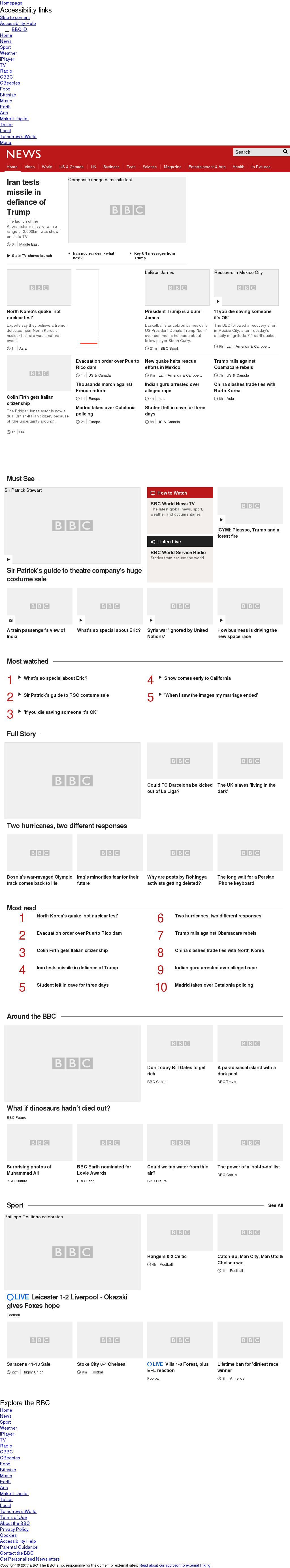 BBC at Saturday Sept. 23, 2017, 5:27 p.m. UTC