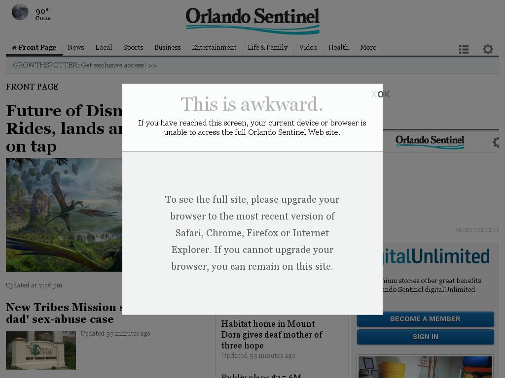 Orlando Sentinel at Tuesday June 16, 2015, 11:21 p.m. UTC