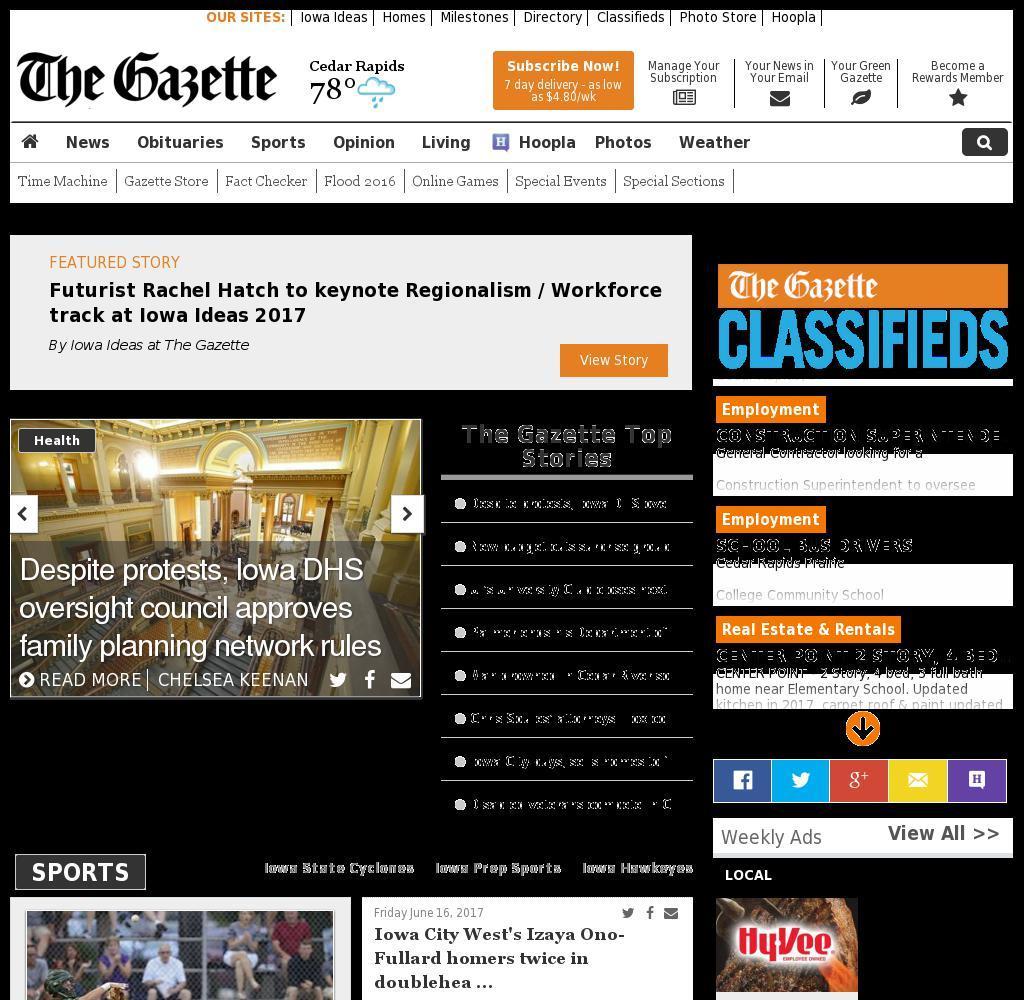 The (Cedar Rapids) Gazette