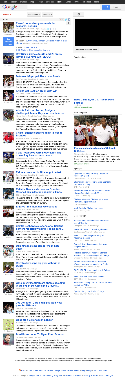Google News: Sports at Monday Nov. 26, 2012, 2:10 a.m. UTC