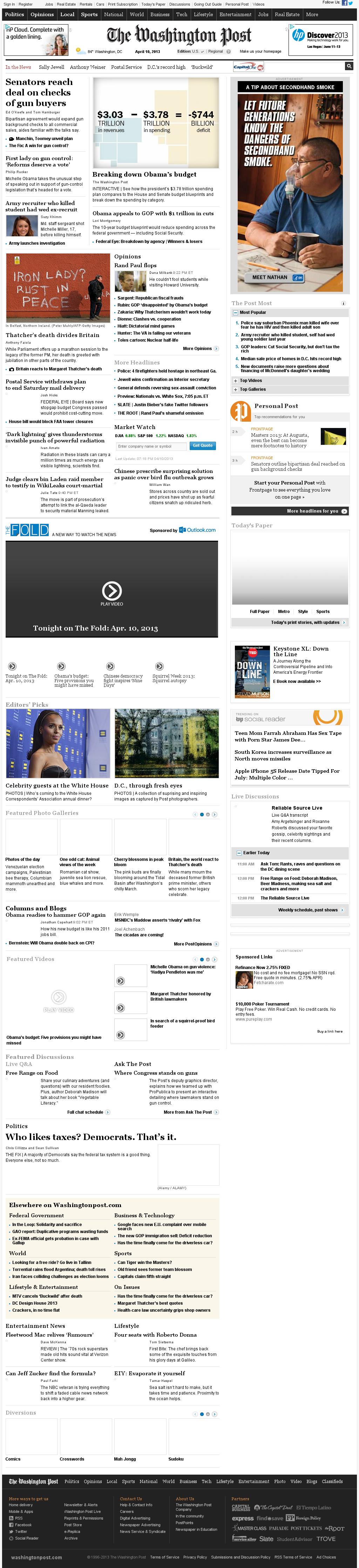 The Washington Post at Wednesday April 10, 2013, 11:28 p.m. UTC