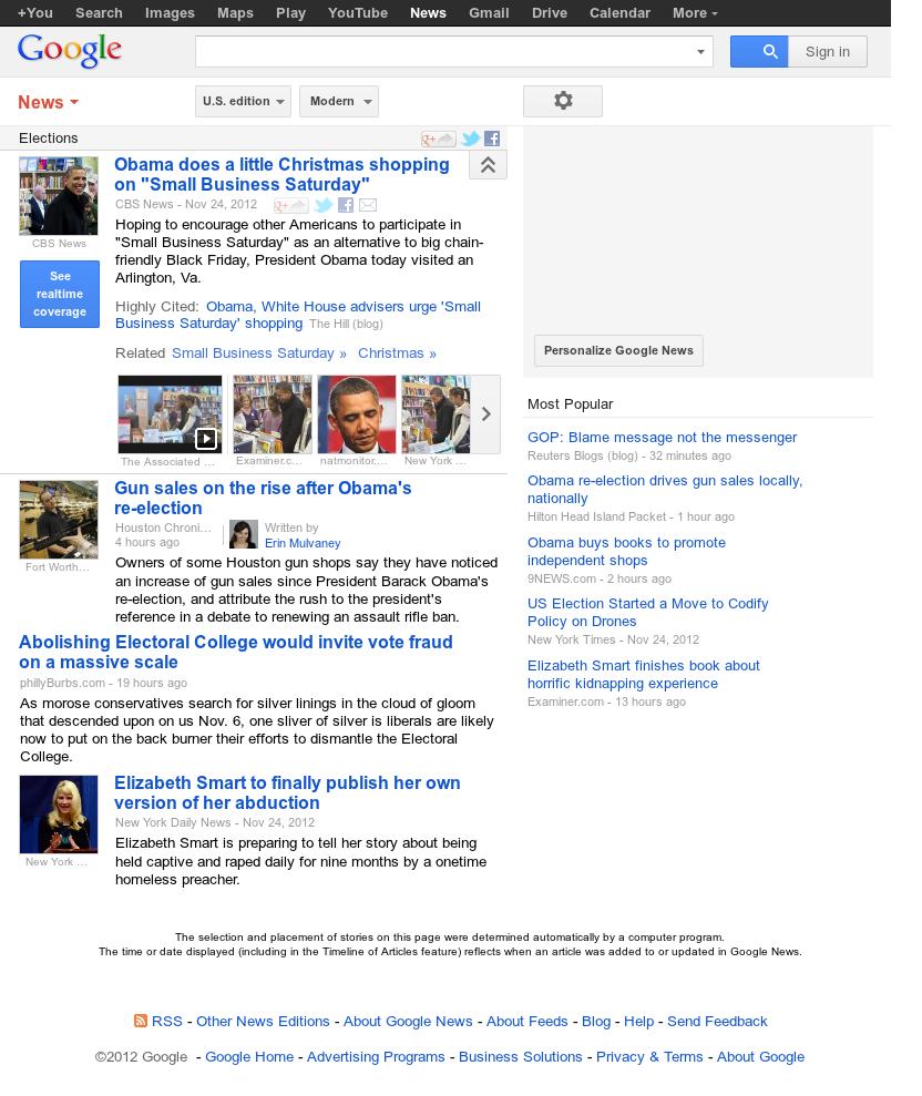 Google News: Elections at Monday Nov. 26, 2012, 6:09 a.m. UTC