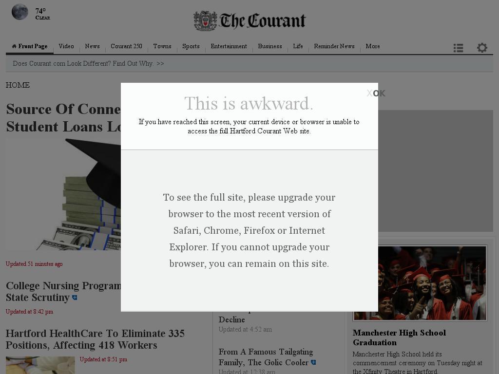 Hartford Courant at Wednesday June 17, 2015, 10:11 p.m. UTC
