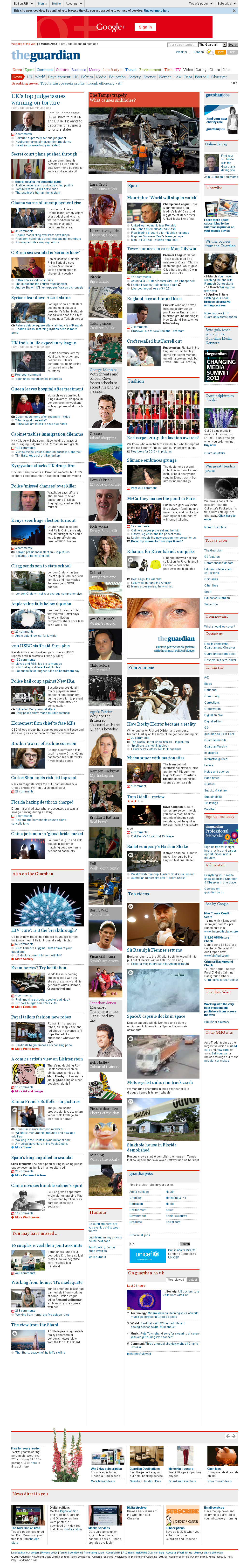 The Guardian at Tuesday March 5, 2013, 12:10 a.m. UTC