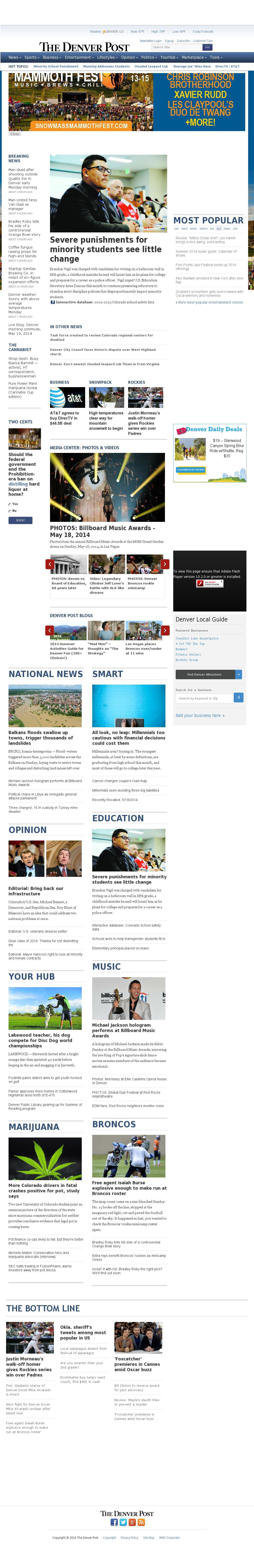Denver Post at Monday May 19, 2014, 2:03 p.m. UTC